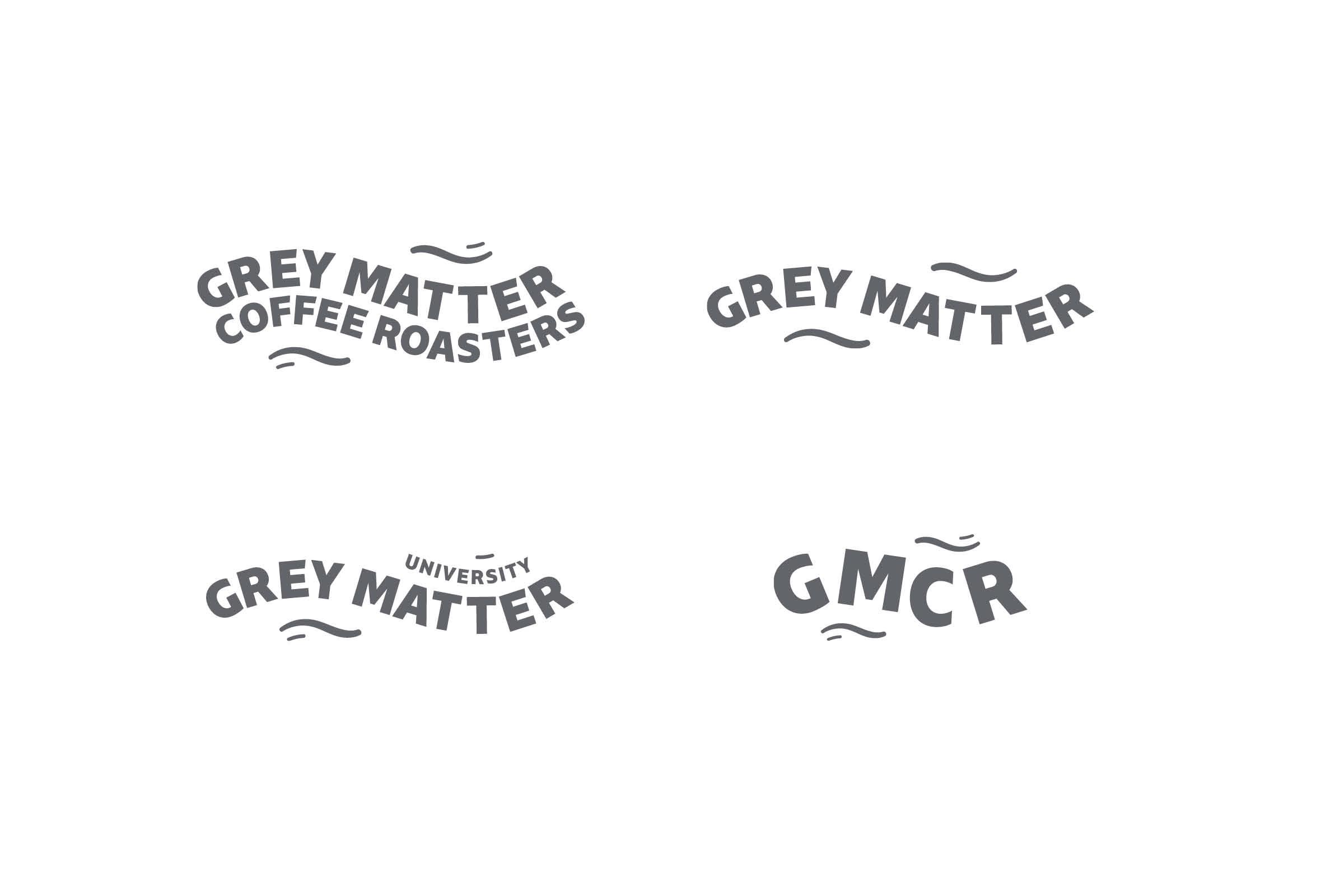 branding logos designed for Grey Matter Coffee Roasters