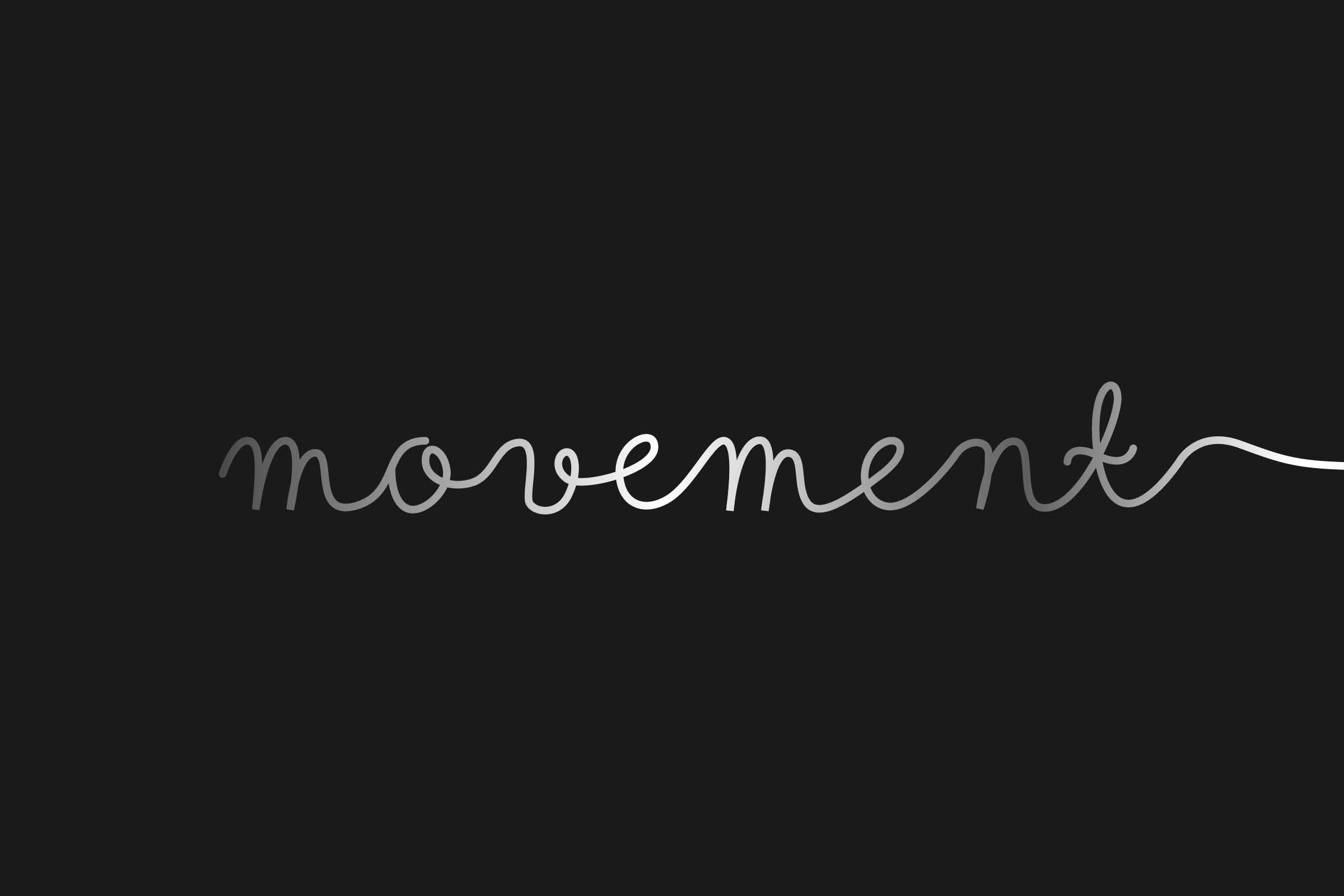 logo design for the movement flyers