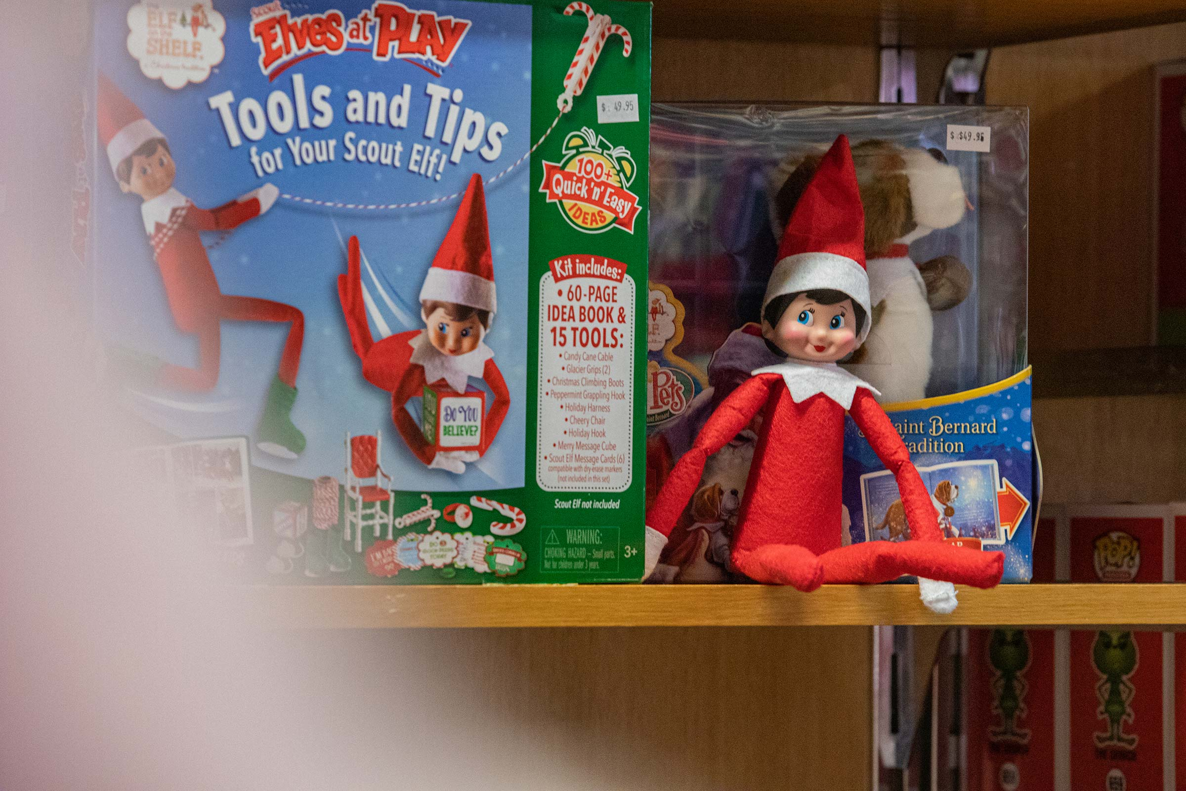 A still life photograph of a Christmas Elf for a Hunter Valley business