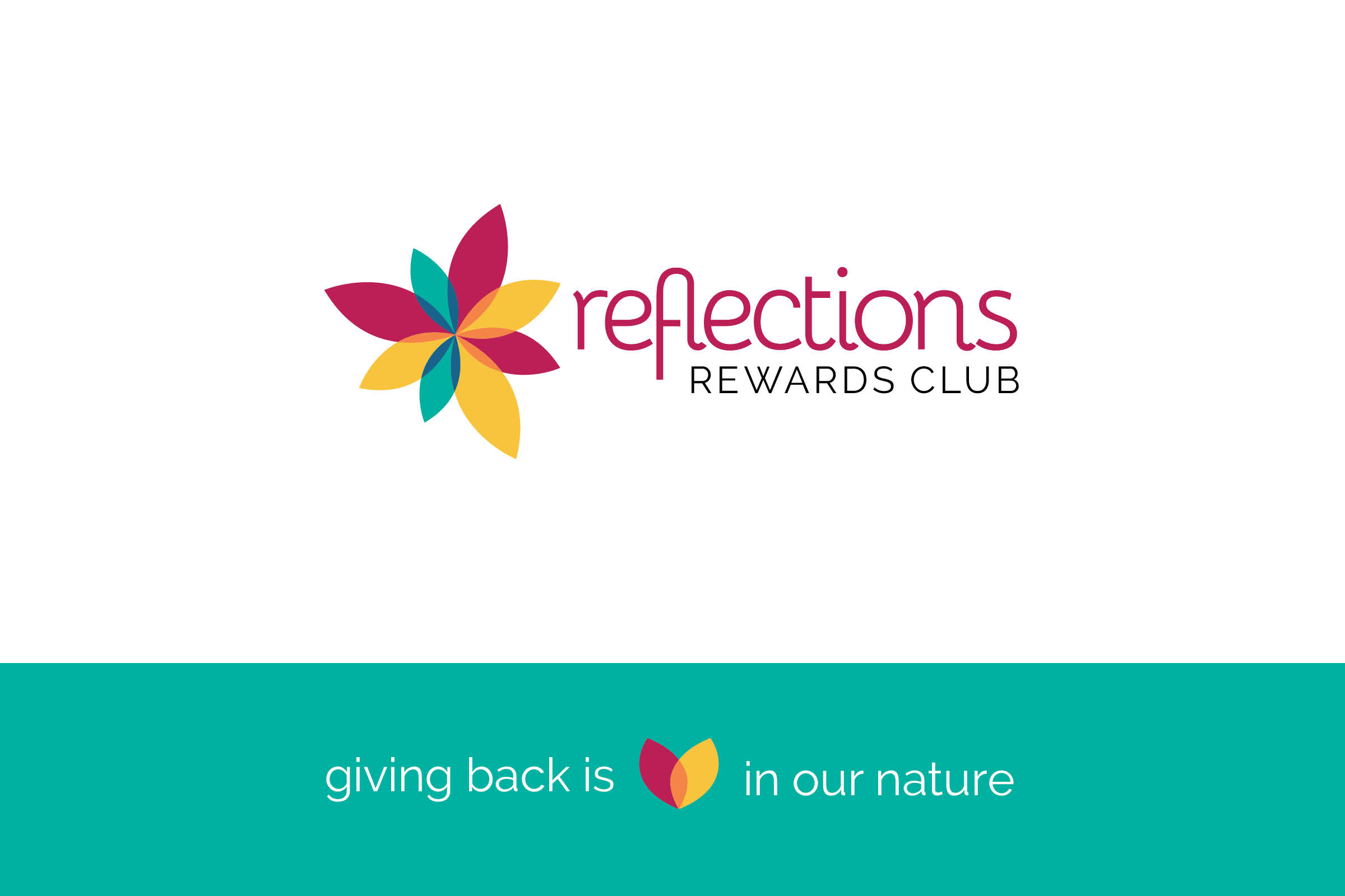 A new logo for Reflections Holiday Parks. Updated to read Reflections Rewards Club.