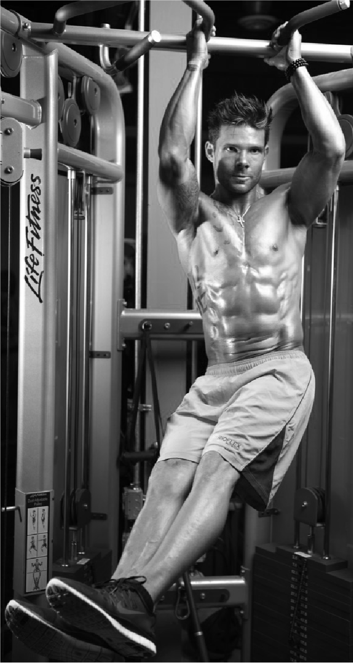 A picture of Thiago at the gym