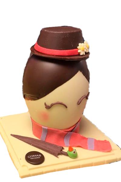 Huevo de tres chocolates Valrhona Nr.5 20 cm
