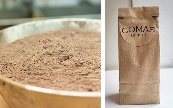 Chocolate en polvo Valrhona para hacer chocolate a la taza 250 gr. para mezclar con 1l.de leche.