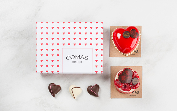 Pack Regalo Especial . 1 Caja Bombones 12u., pastel individual corazón, pastel individual CORAZÓN DULCEY (Red Velvet AGOTADO)