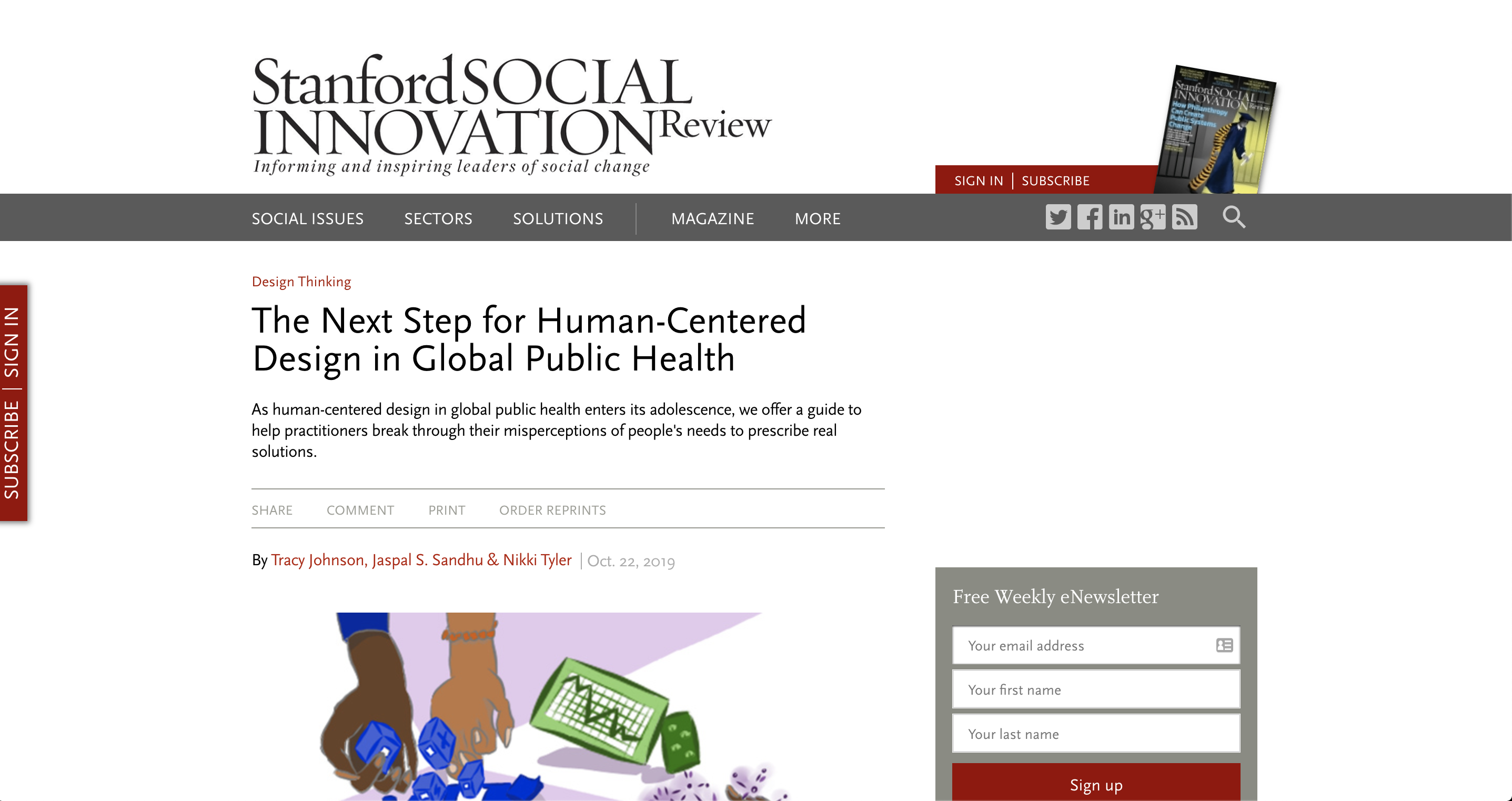 xt Step for Human-Centred Design in Global Public Health'