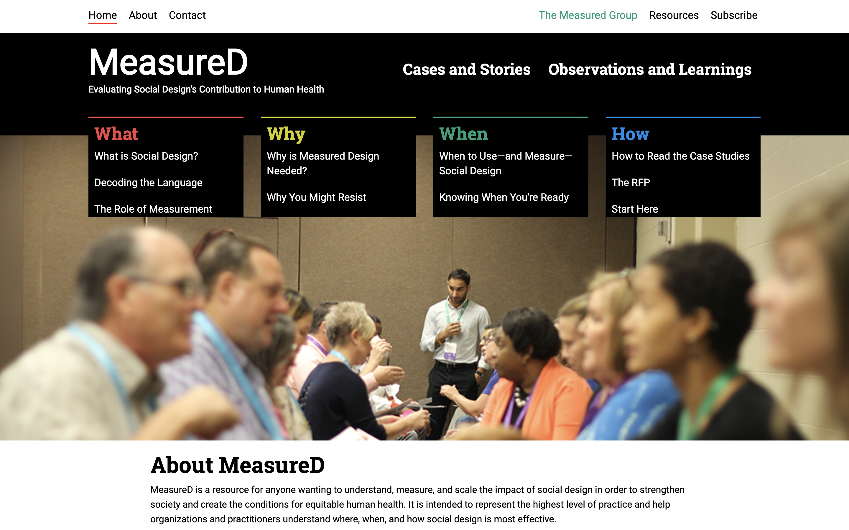 Preview of MeasureD website