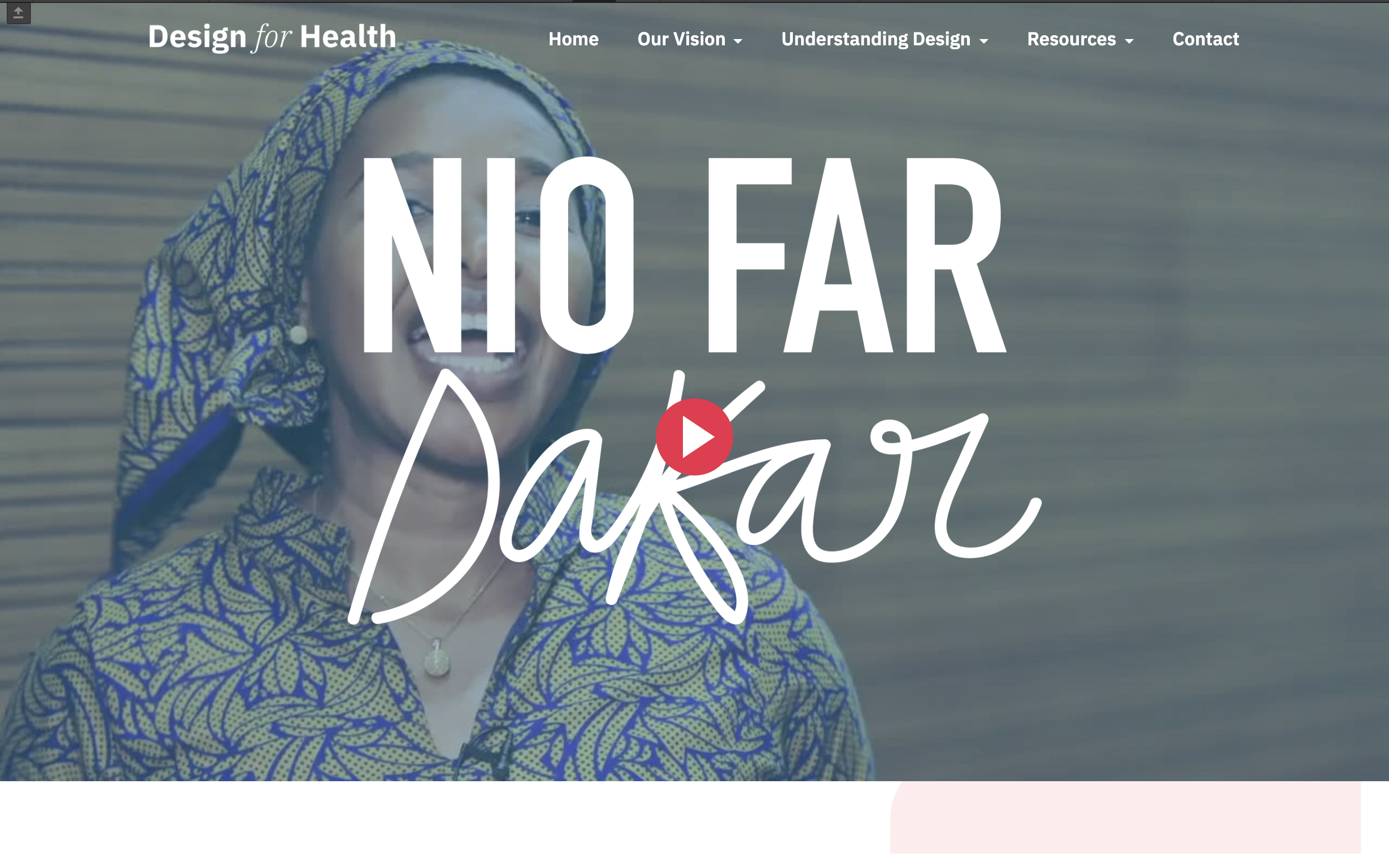 Preview of webpage summarising Nio Far Dakar 2019 conference