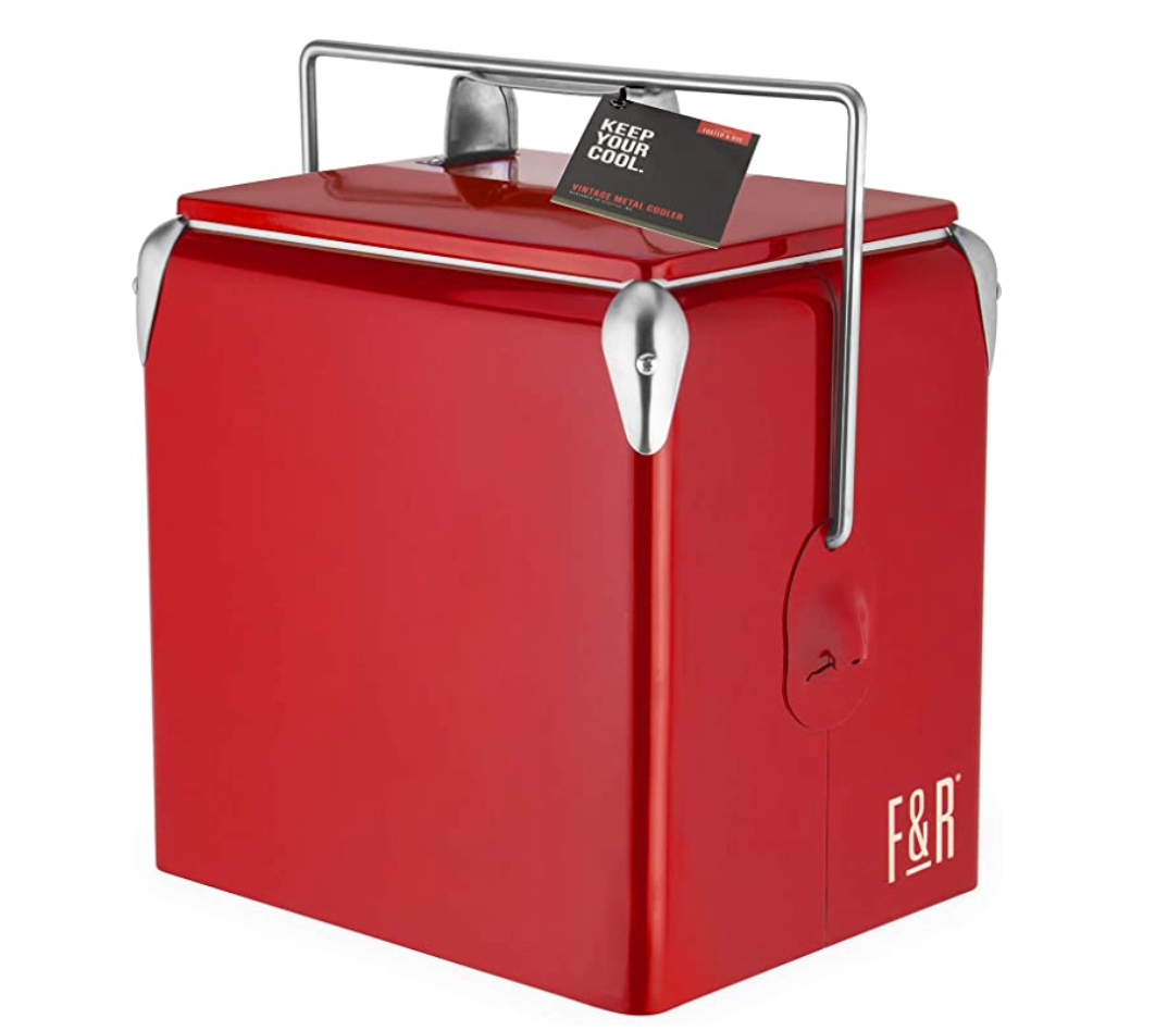 Foster & Rye Vintage Cooler in Red