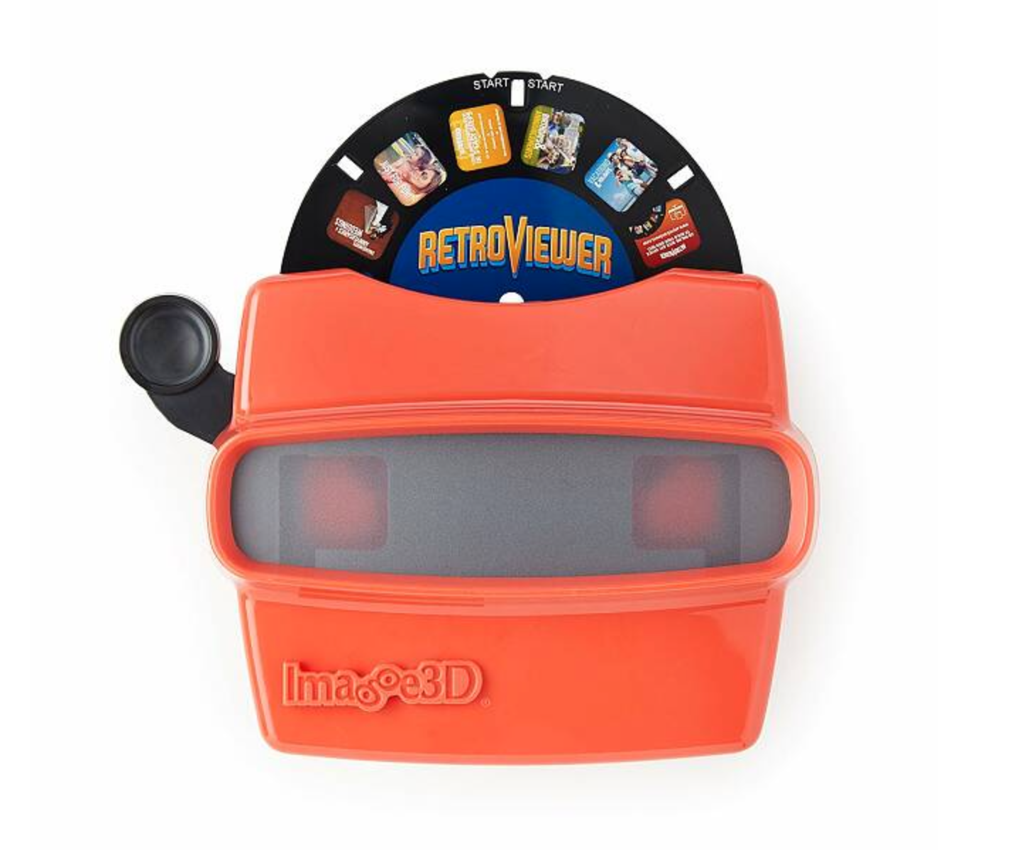 Red retro reel viewer