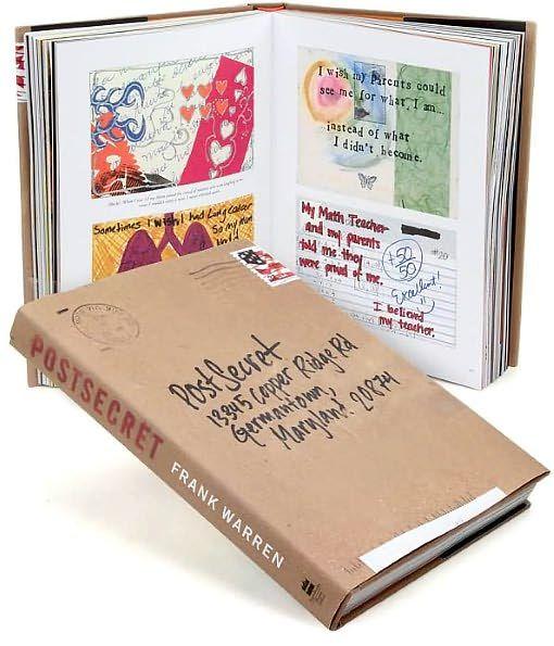 Post Secret Book by Frank Warren