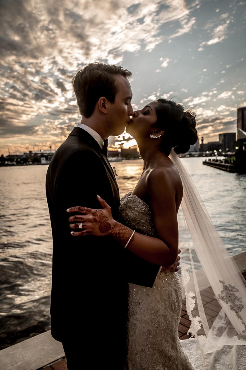 Wedding Photography Baltimore Inner Harbor