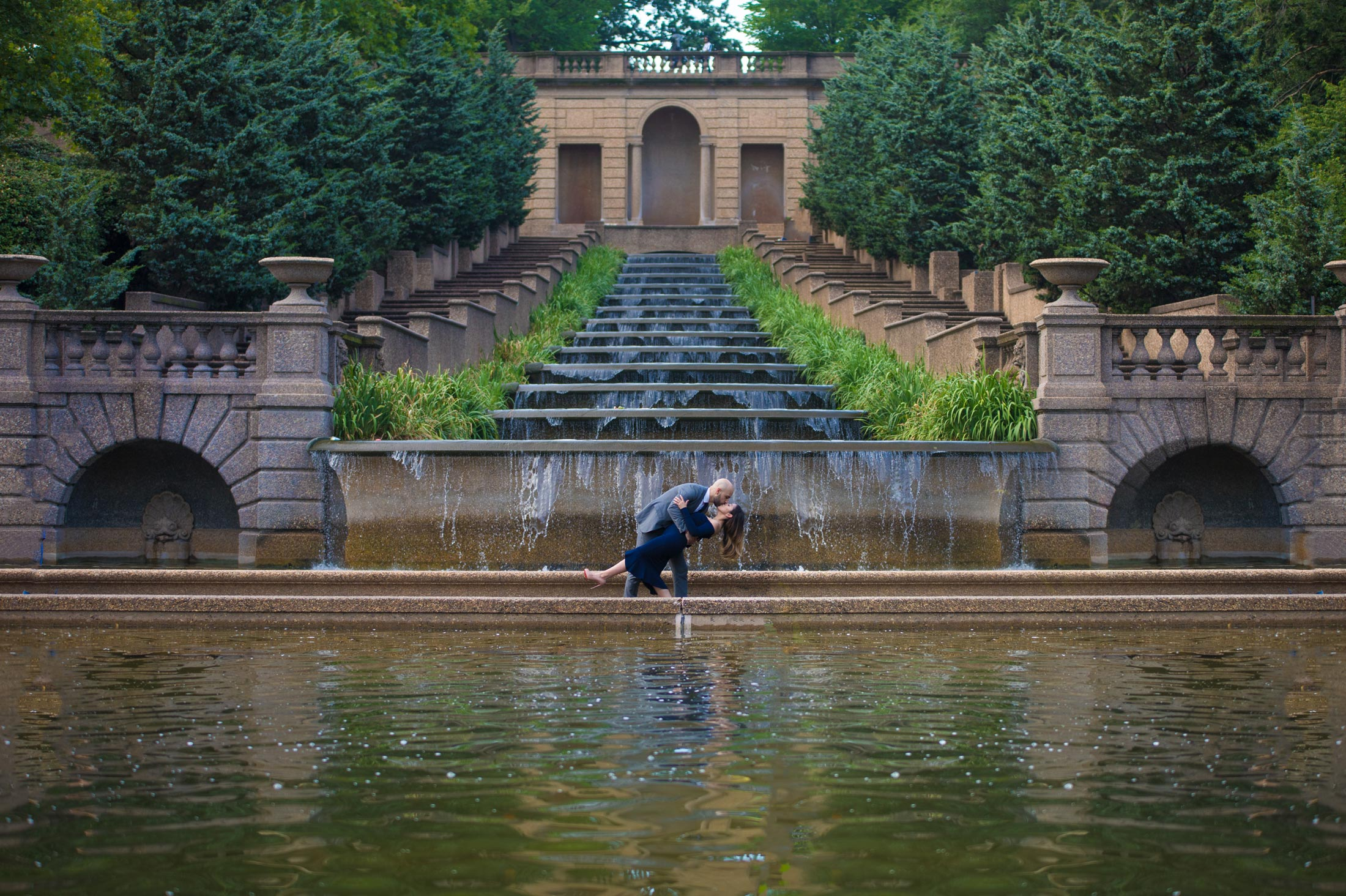 Engagement Photography at the Meridian Hill Park Washington DC