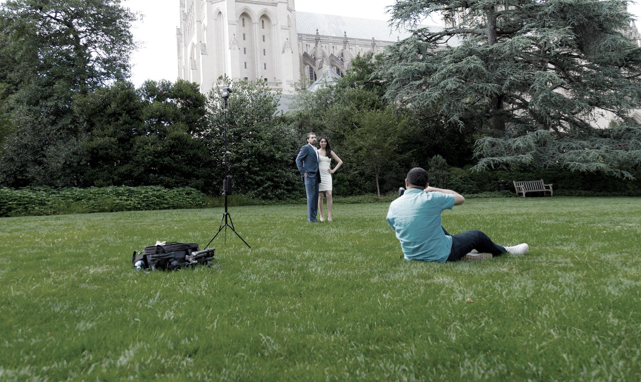 Engagement Photography National Cathedral Bishop Gardens Washington DC