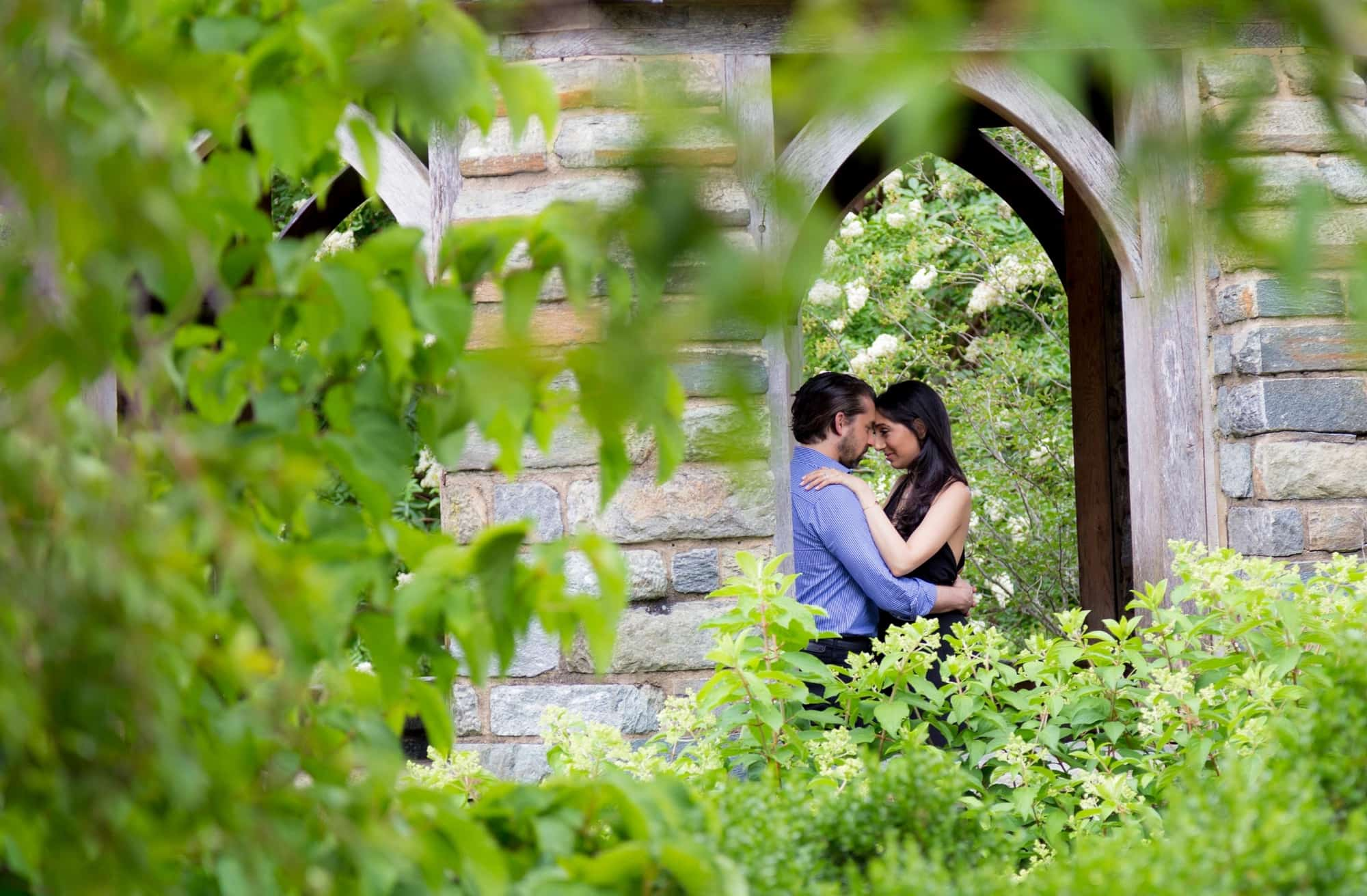 Engagement Photography at the Bishops Garden, National Cathedral Washington DC