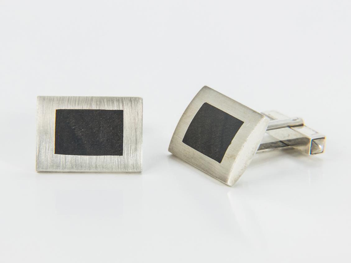 925 Silber mit Ebenholzeinlage