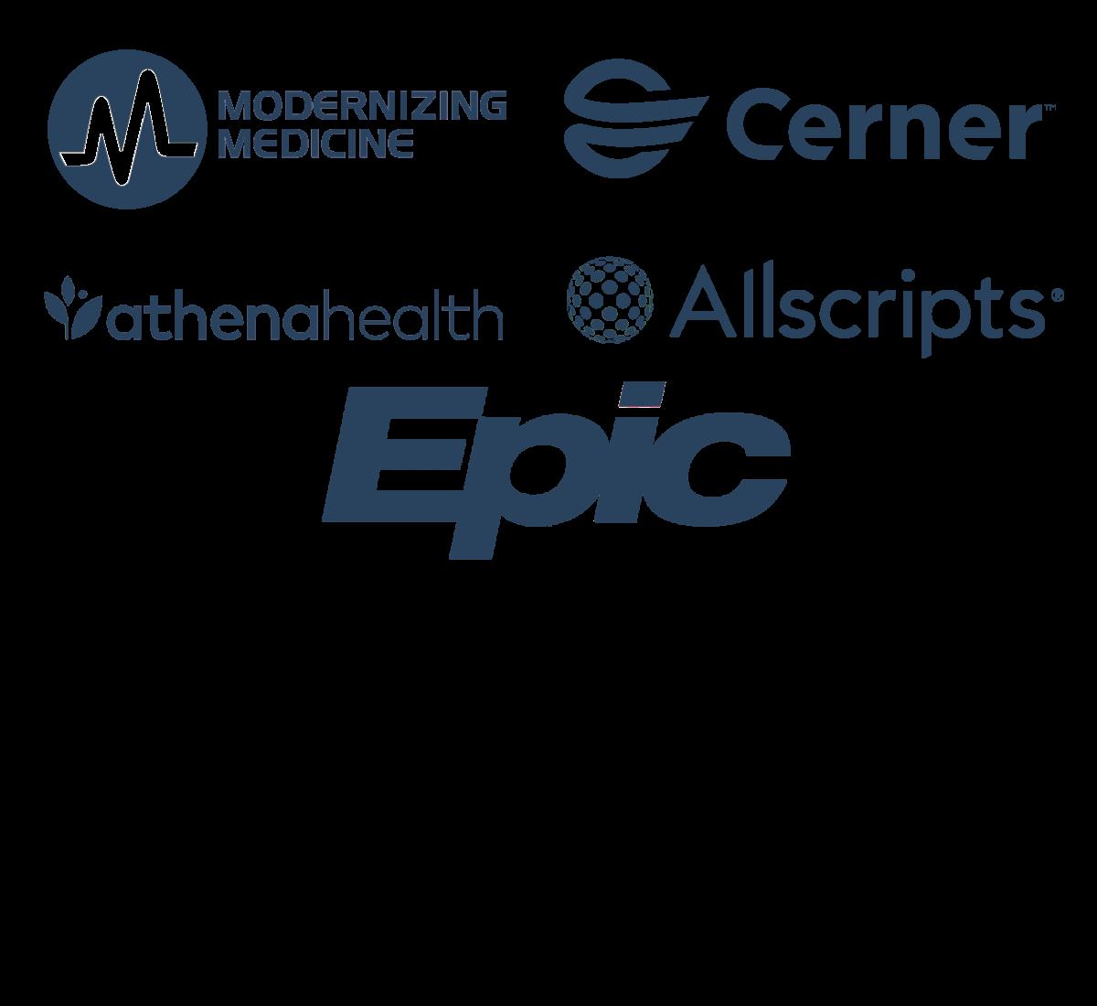 EHR company logos