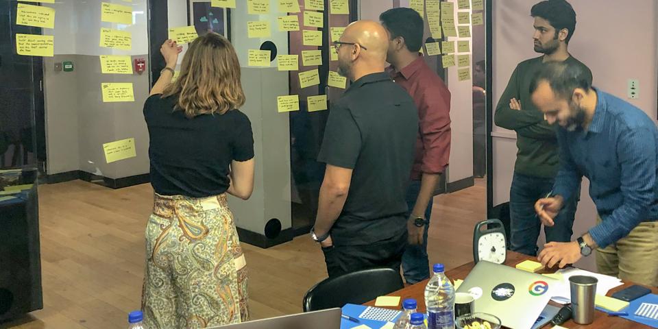 Design Sprint Storyboarding session