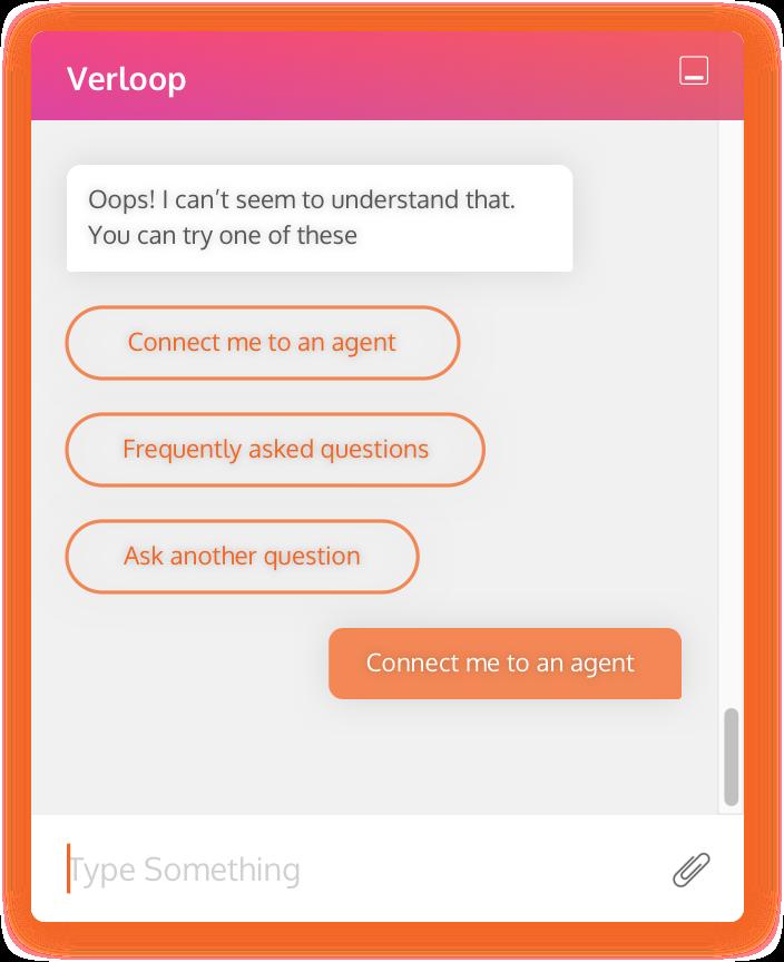 Verloop chat screen design