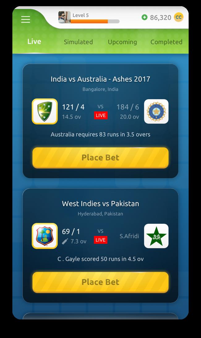 Sportsie UI Design screen
