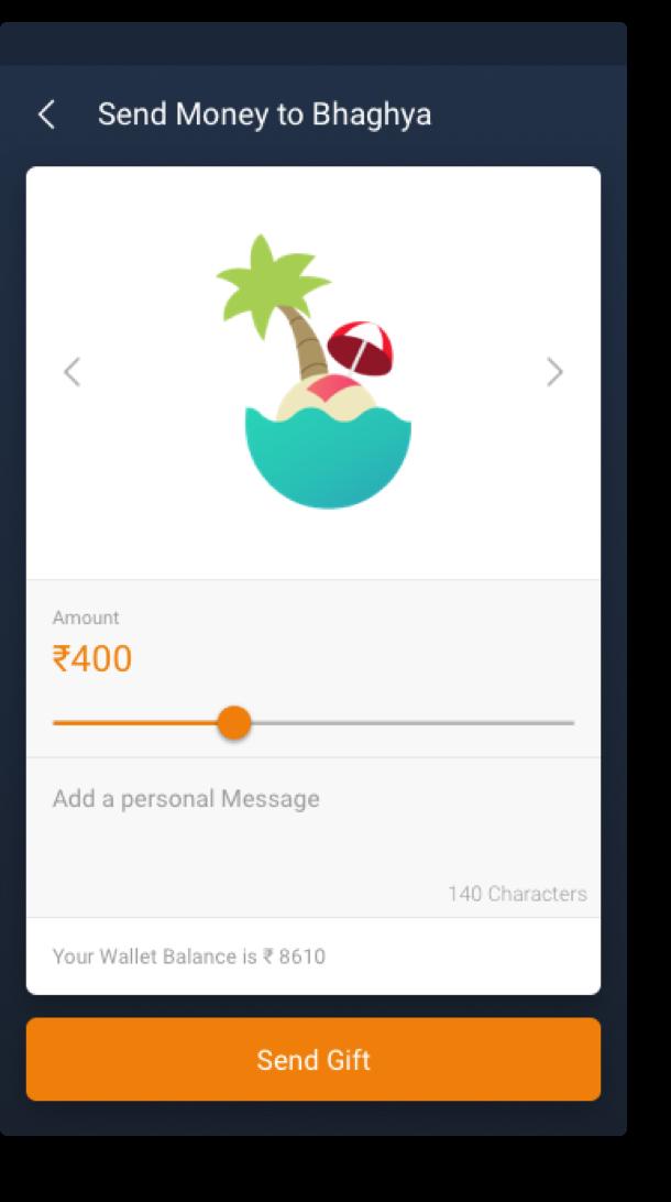 Citrus UI Design Screen