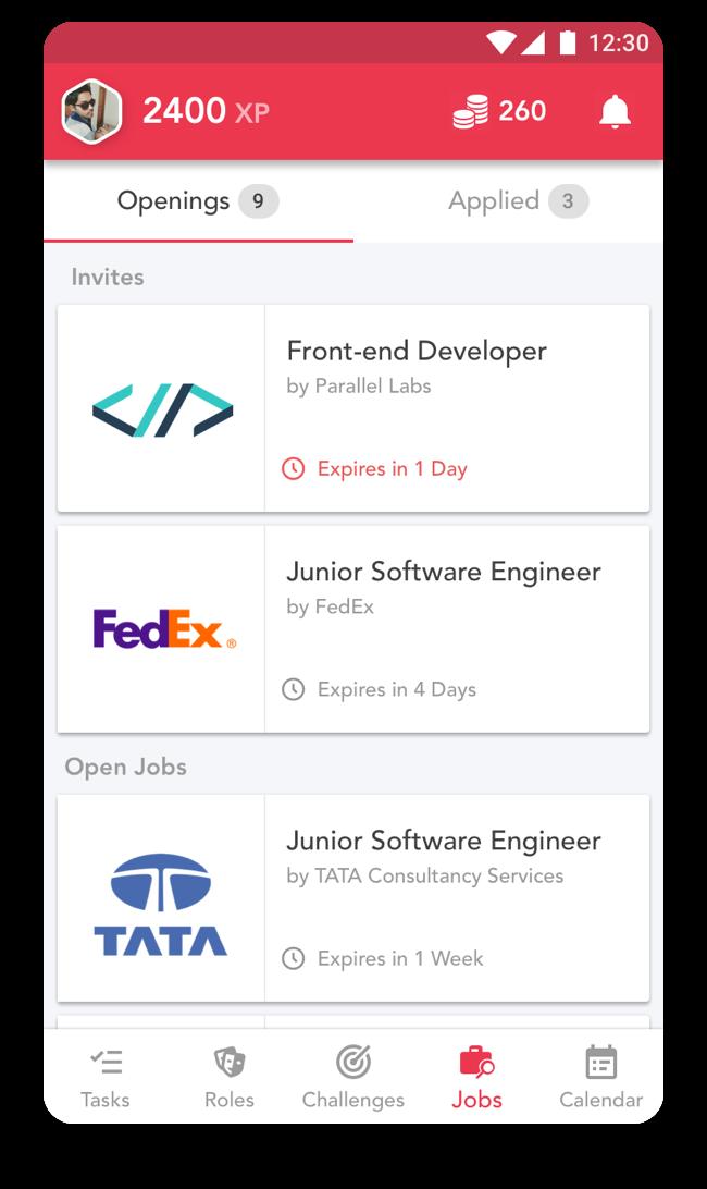 Talentify UI design prototype