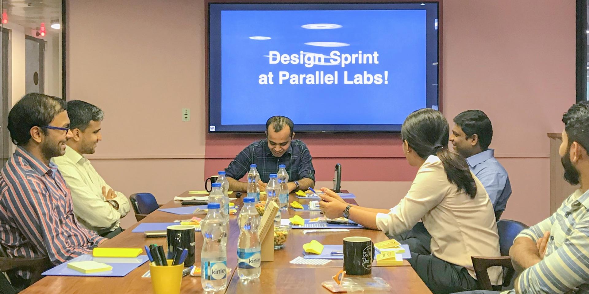Equifax design sprint team orientation at parallel labs