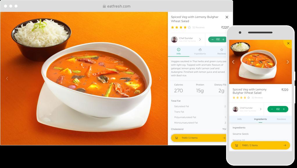 Eatfresh UI design screen