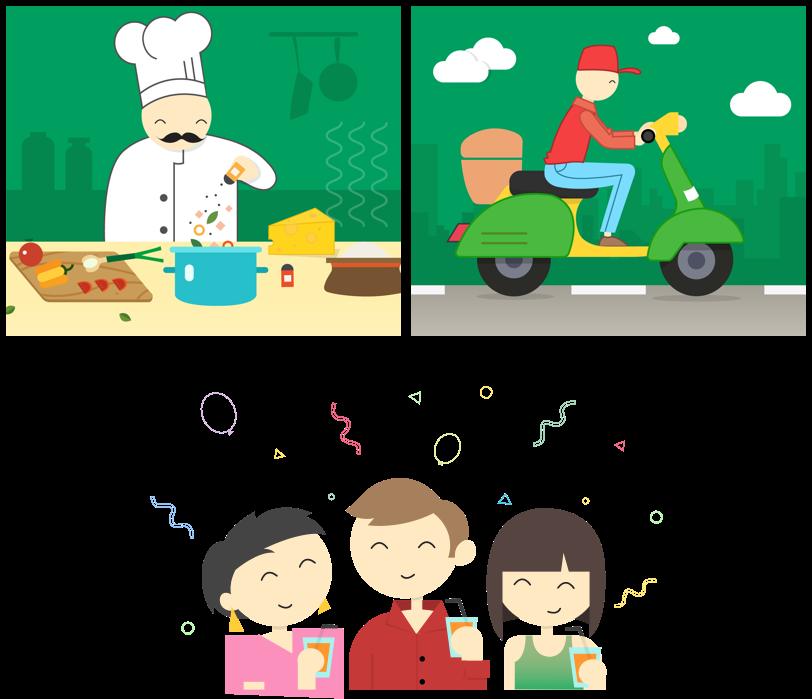 Eatfresh UI design illustarations