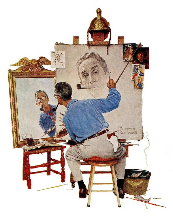 Mirror drawing is a powerful practice for self therapy and self observation