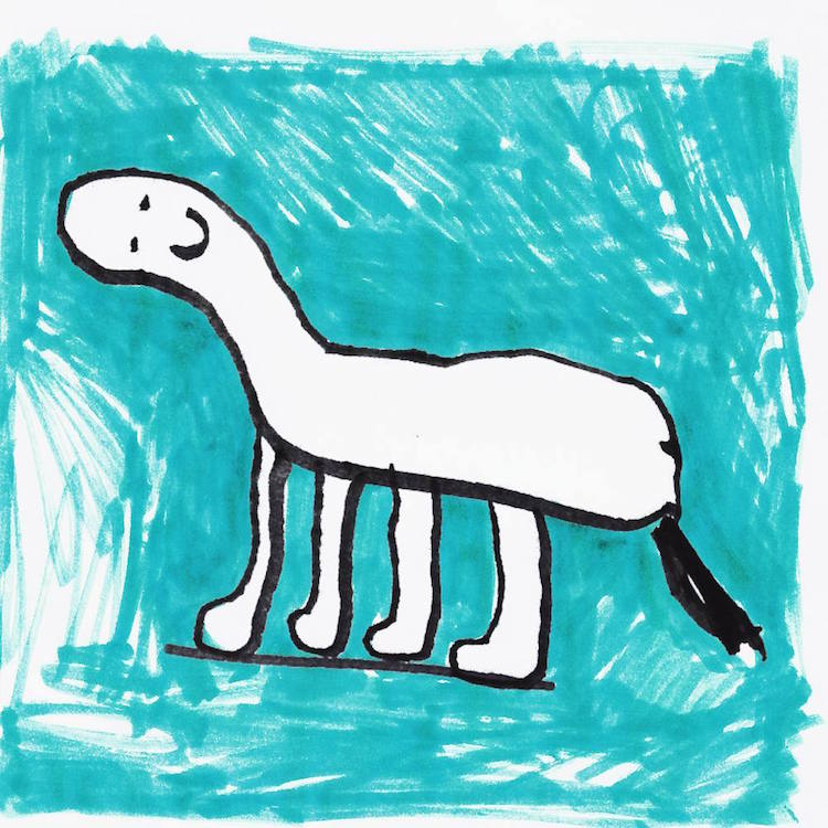 a childs drawing of their pet
