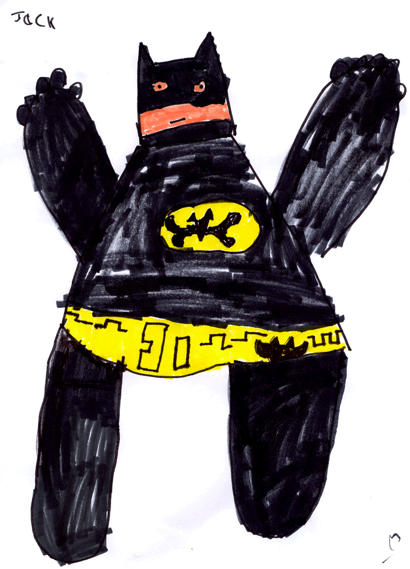 a famous kids therapy approach is to have them draw themselves as a superhero