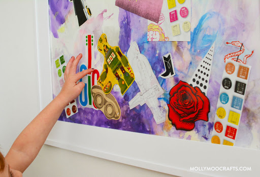 a kids collage encourages creativity and problem solving