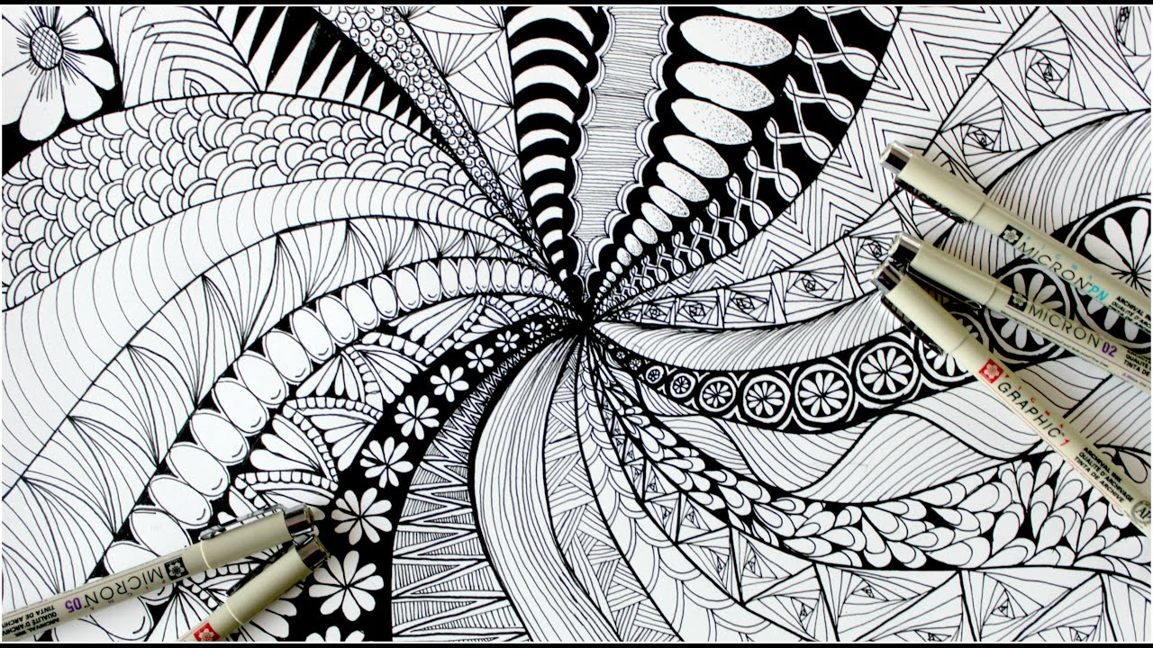 a zentangle creates calm from the chaos you put on a page. Its lures you into a state of flow and creativity.