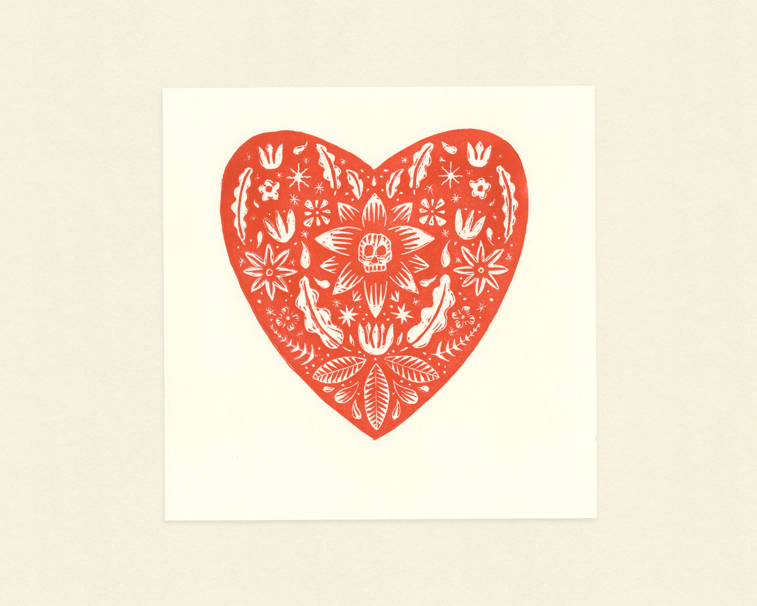 Ink block printing is the featured craft for April's art box.