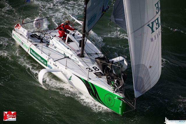 Figaro 3 sailing boat aerial photo
