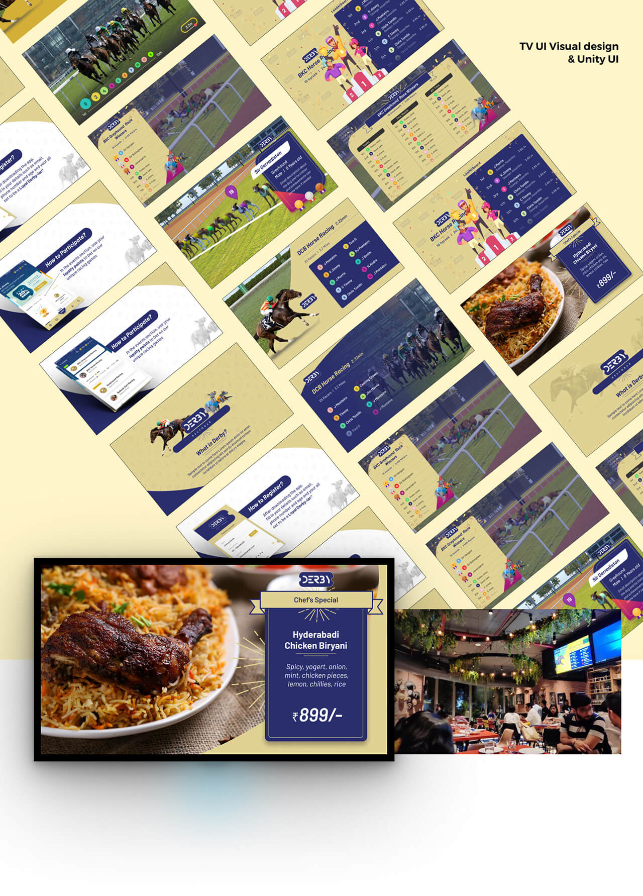 TV Visual design to be played inside the restobar