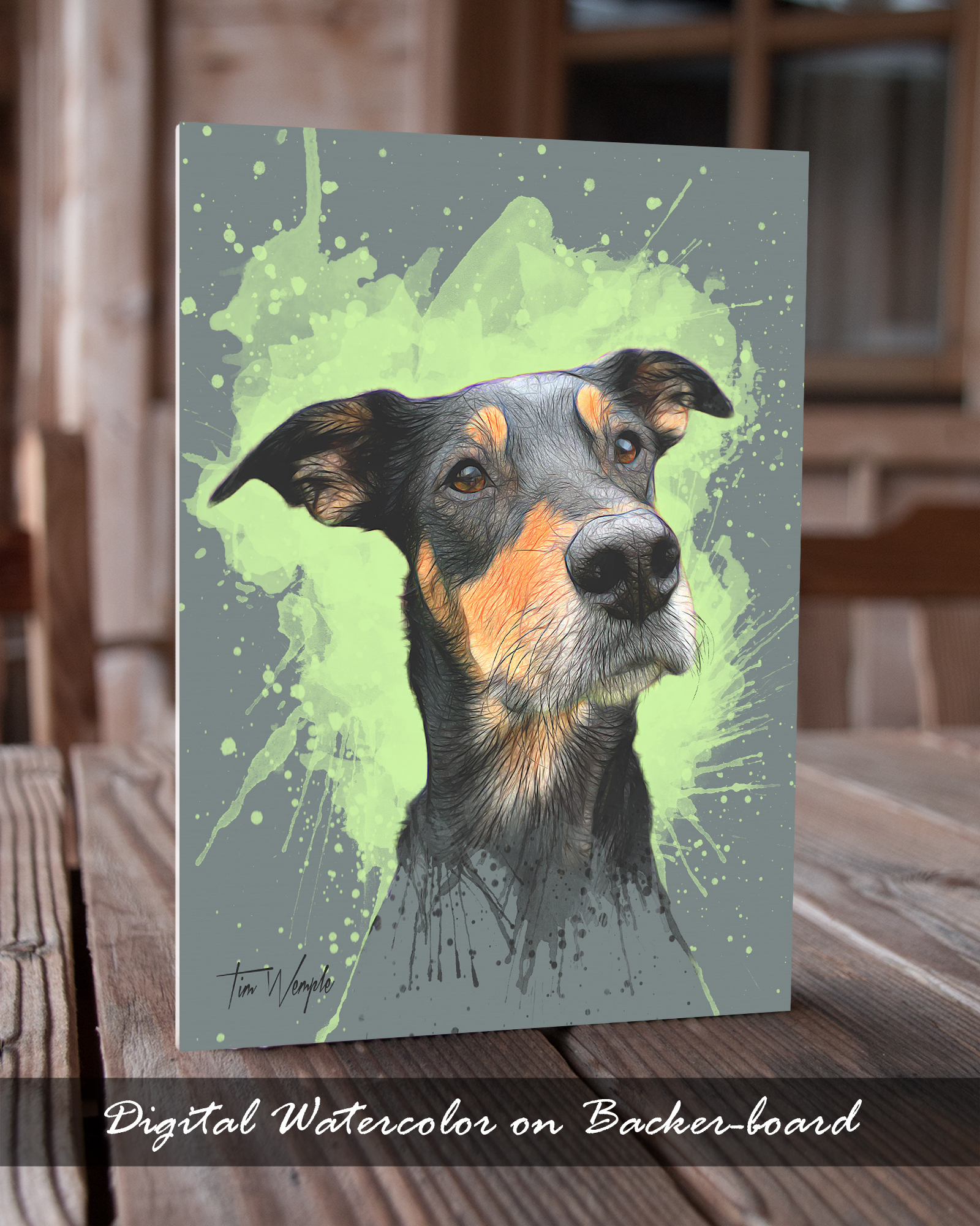 Andy's Paw Prints Pet Portrait Print Format