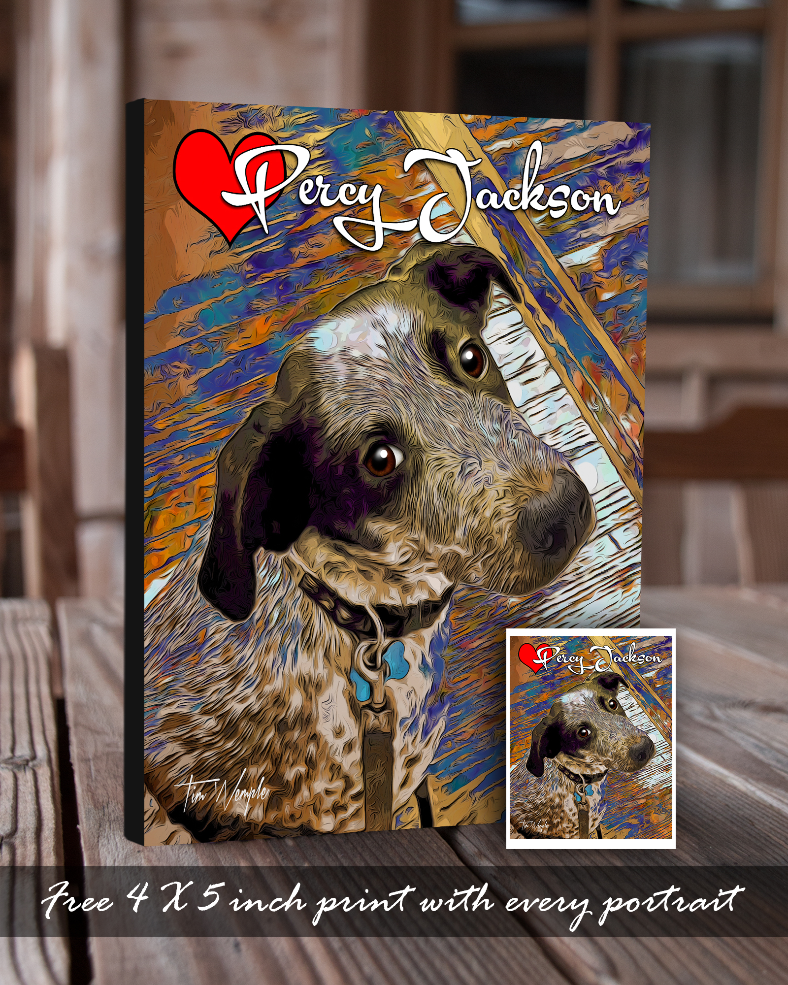 Andy's Paw Prints Pet Portrait Free Print