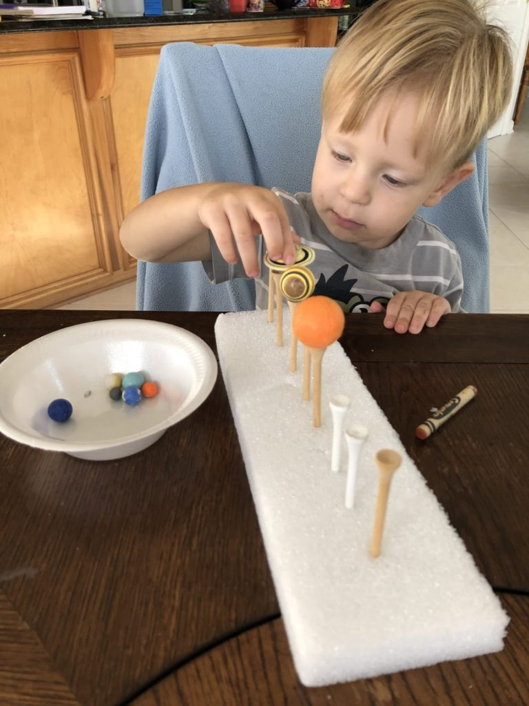 Great activity to arrange the planets in order