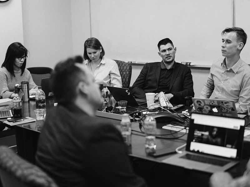 MGM Digital Ventures team in a meeting