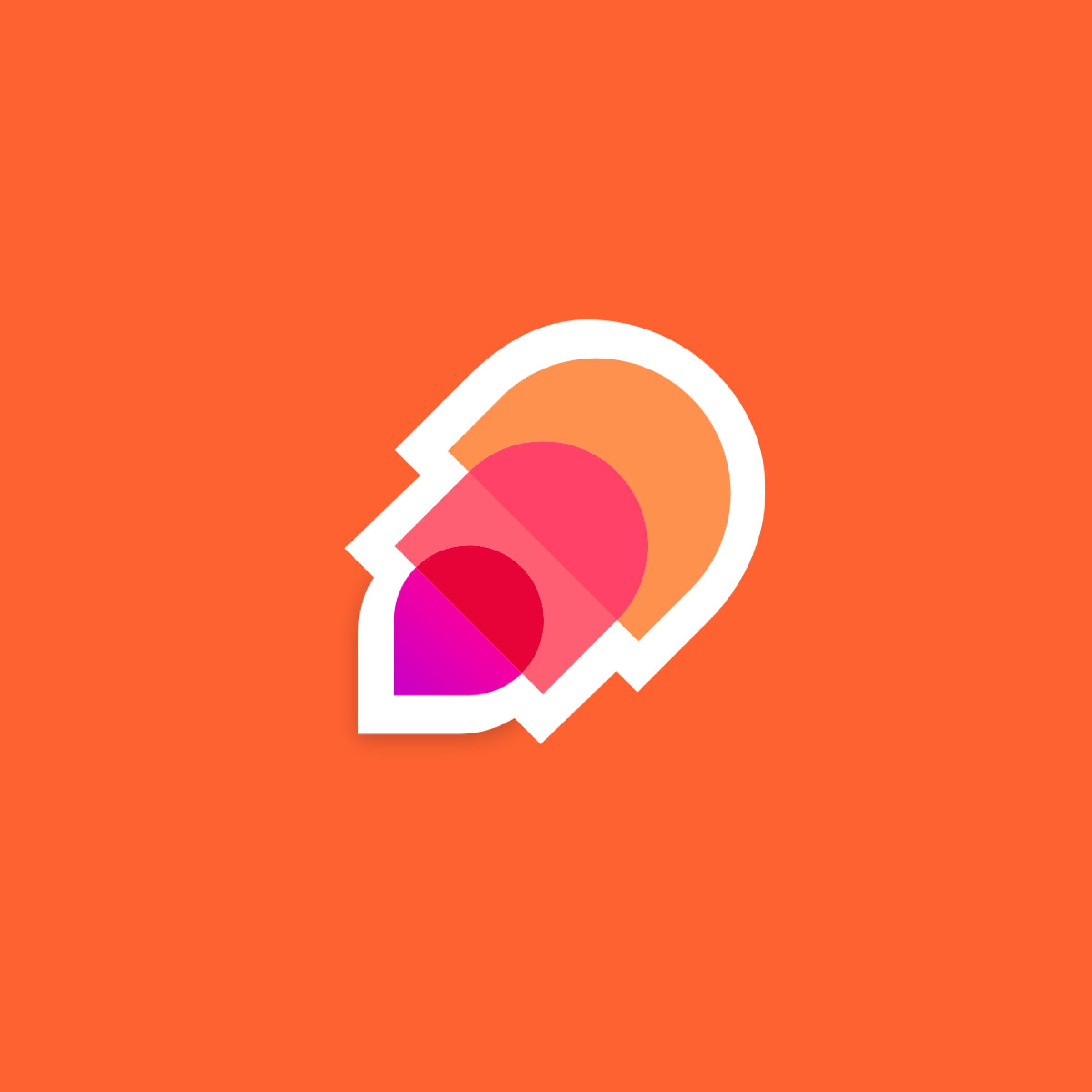 DroppX-logo neliönmuotoinen logo