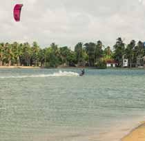 Duotone Dice on the Kappalady lagoon