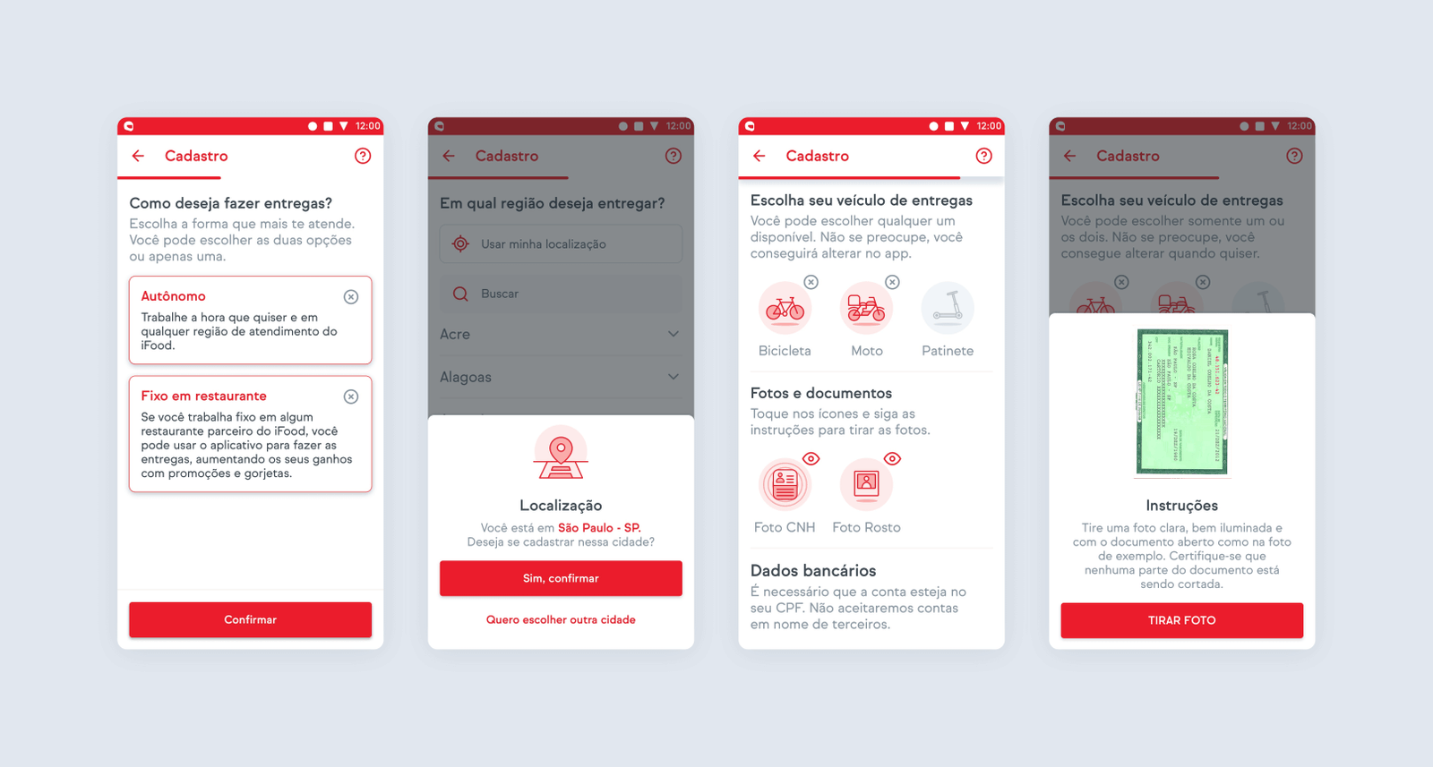 Screenshots of some of the UI