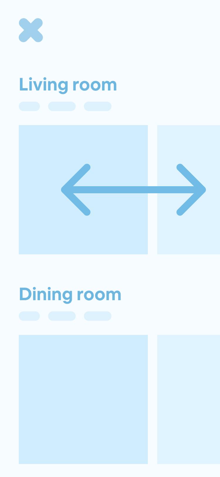Horizontal rows