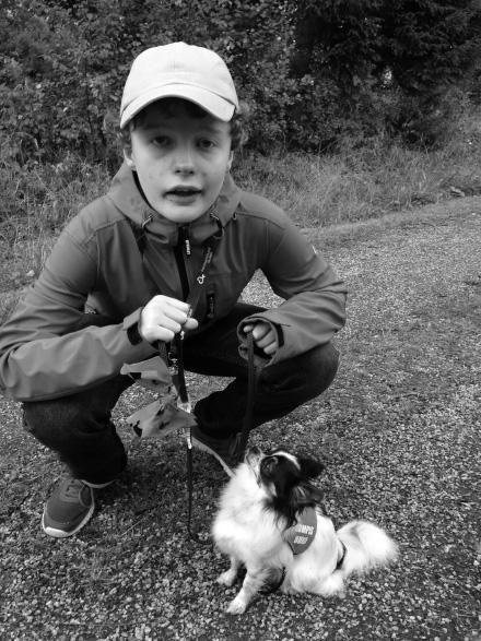 Erik tillsammans med sin hund Jax