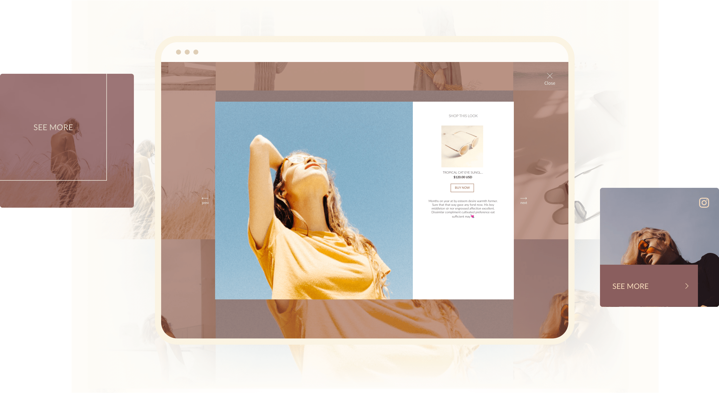 Hover and popup style 5