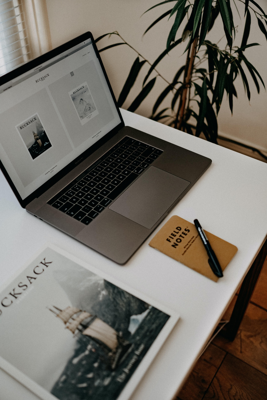 website open on Laptop screen