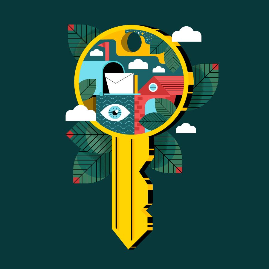 Illustration of a key