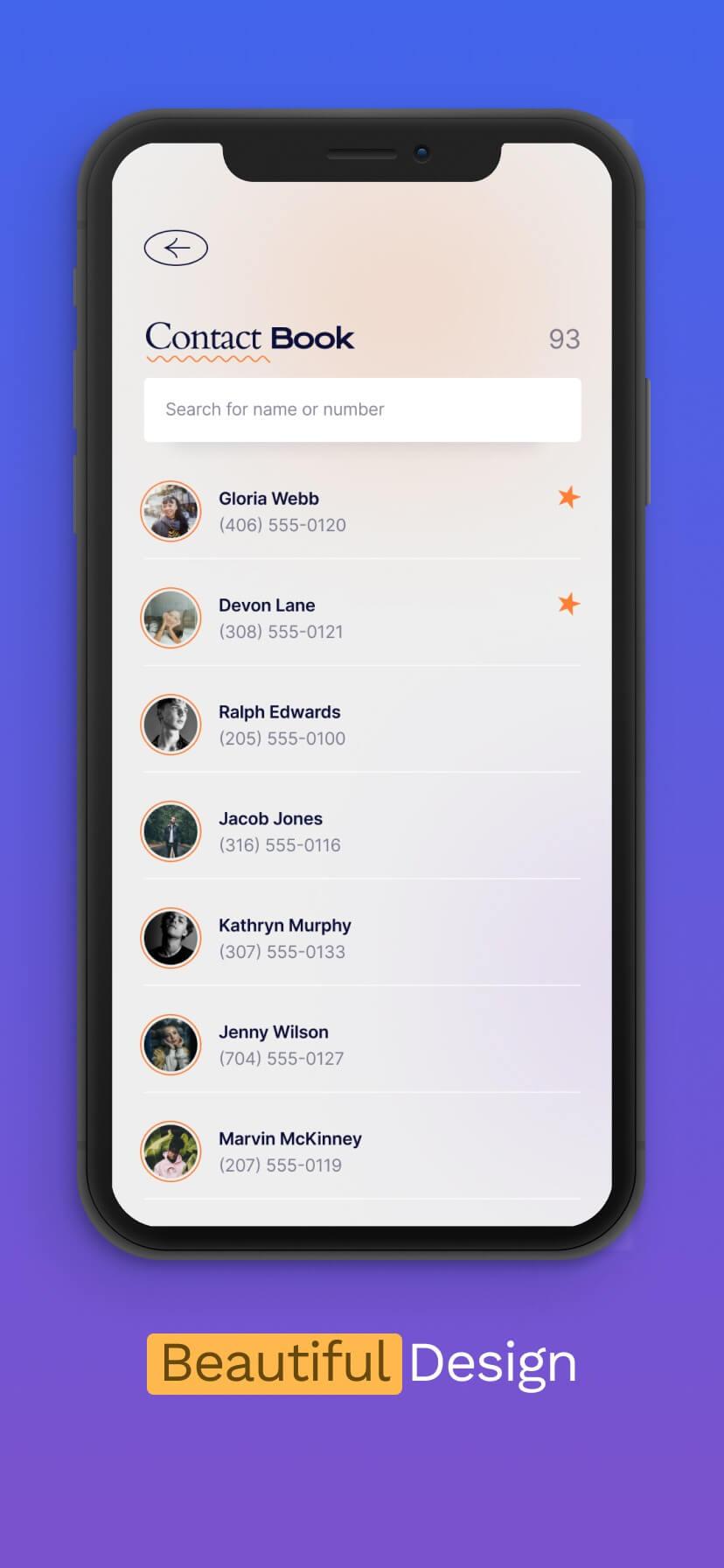 Blue and purple gradient app store screenshot #5