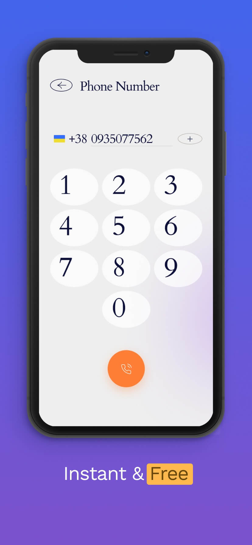 Blue and purple gradient app store screenshot #1